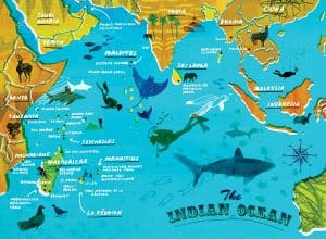 Indian Ocean Facts for Kids | Geography | Map | Waterways ... |Indian Ocean Facts