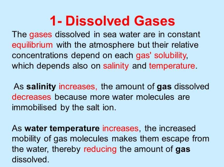 17 Importance of Dissolved Gases in Ocean